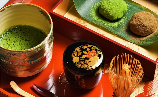 口福餅と大和抹茶のセット