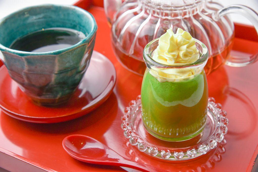 大和茶香るプリンと和紅茶のセット<一日限定10食>