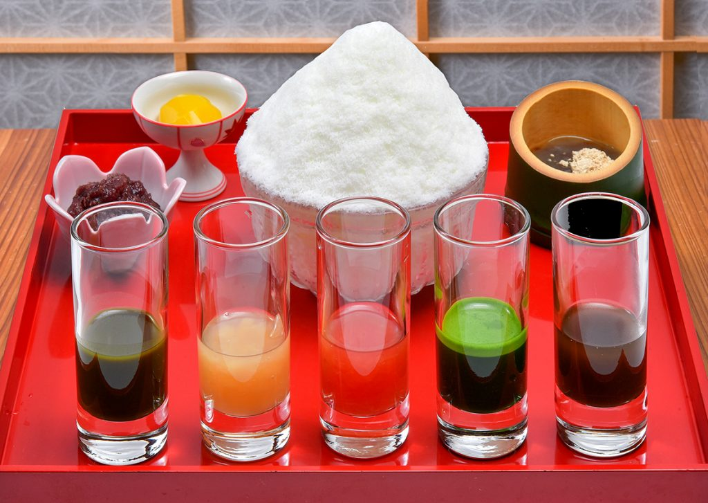 口福茶寮の福寄せミルクかき氷
