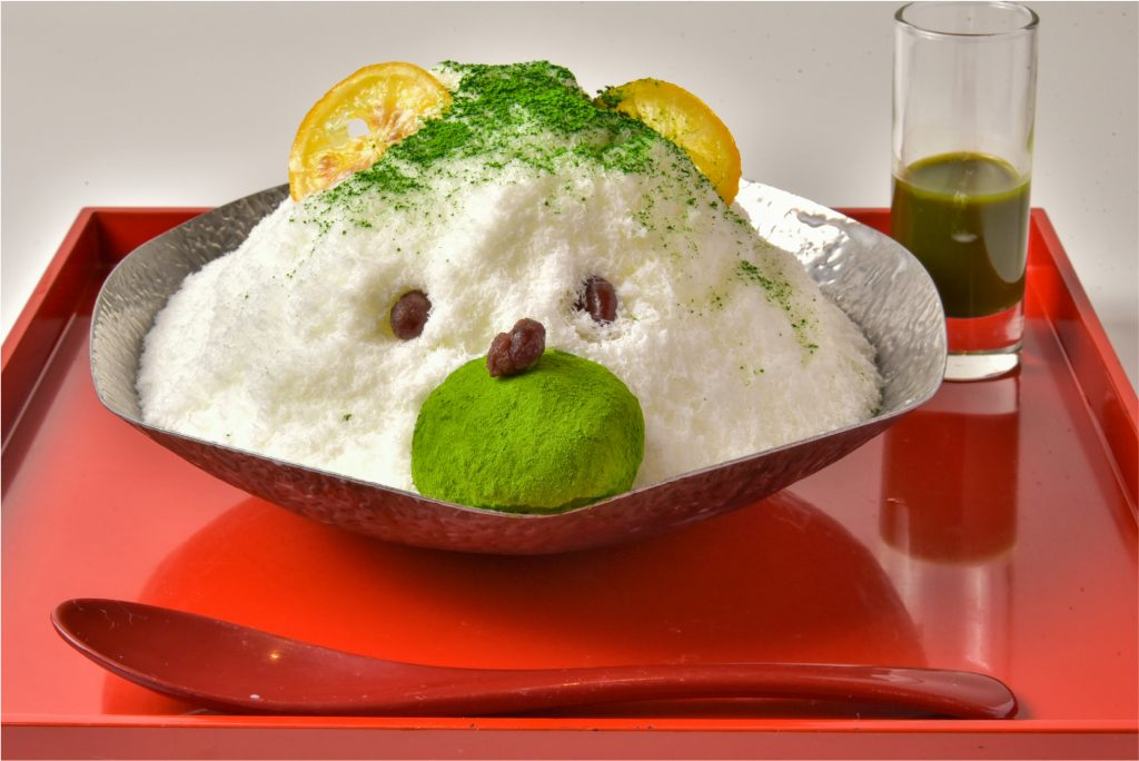 大和抹茶のクマちゃんミルクかき氷